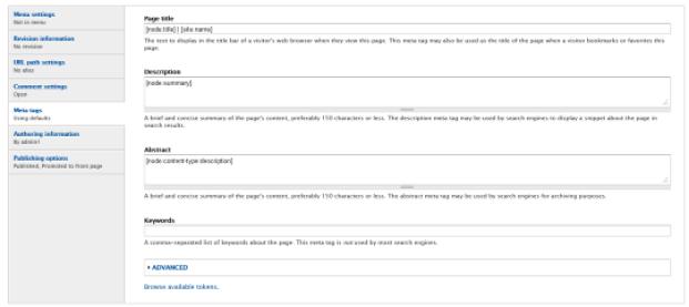 Use Meta Tags in Drupal 4