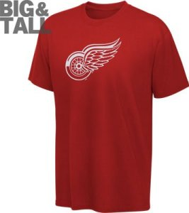 big and tall red wings apparel, plus size red wings