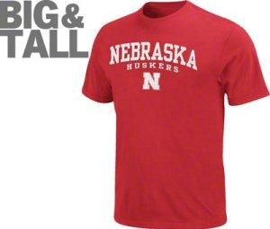 Nebraska cornhuskers big tall plus t shirts hoodies for Plus size tall t shirts