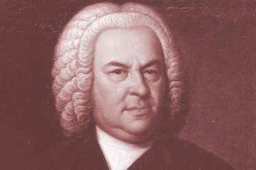 Retrato del compositor alemán Johann Sebastian Bach.