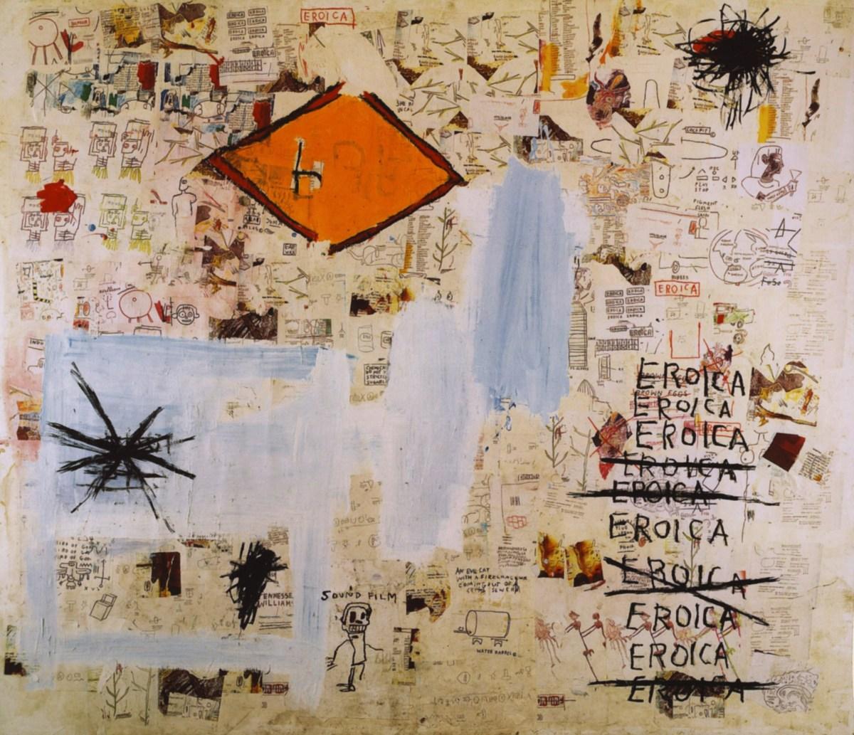 A tela Eroica (1987) é a primeira citação explícita que Basquiat faz à obra de Beethoven