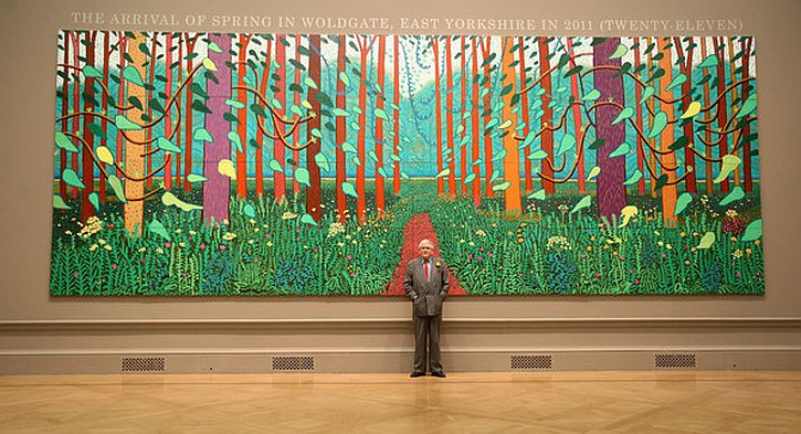 HOCKNEY the arrival of spring
