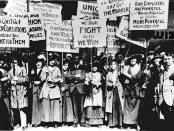 Manifestação em Nova Iorque, 1908