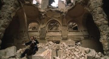 La Biblioteca Nacional de Sarajevo, destruída en la guerra de 1992
