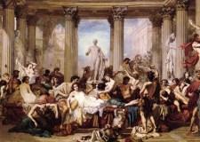 Orgía en la antigua Roma.