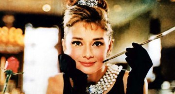 Audrey Hepburn en Breakfast at Tiffany's.