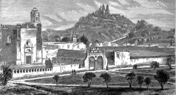Cholula, la pirámide y la iglesia.