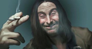 Frank Gallagher, Shameless. Ilustración de Bezerkartwerk, Deviant Art.