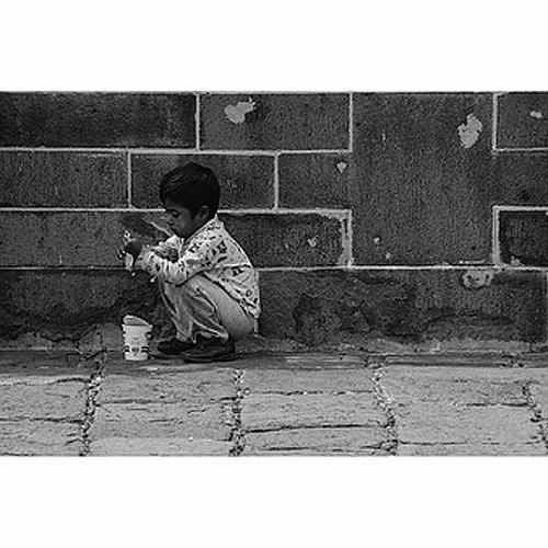 """Título: """"Los niños de mis viajes"""" Autor: Andrés Cedillo Técnica: Fotografía digital  País: México."""