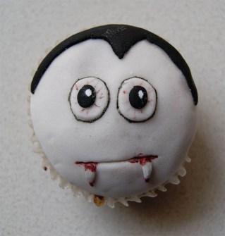 Cupcakes para Halloween del Conde Drácula