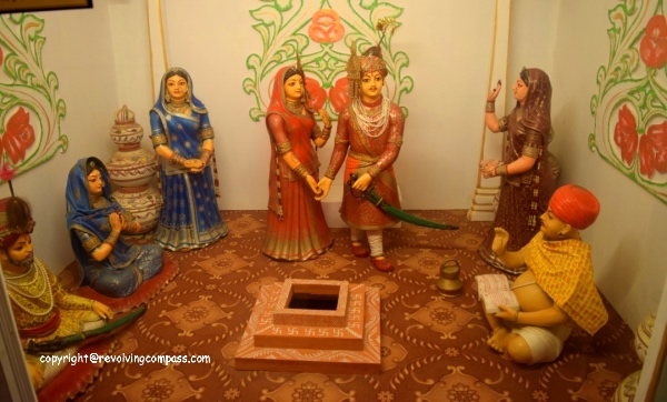 Beautiful wedding depiction at Bagore Ki Haveli