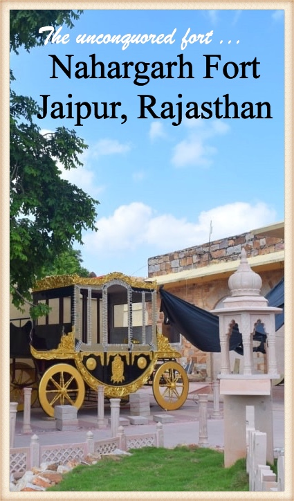 The unconquored fort of Nahargarh in Jaipur Rajasthan