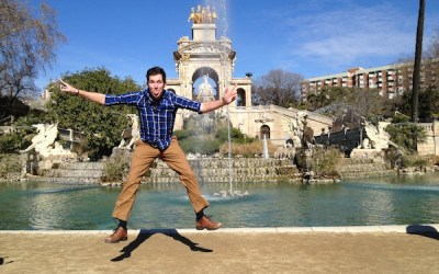 Handsome Travel Blogger in Barcelona