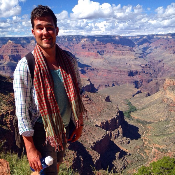 Handsome Travel Blogger at Grand Canyon, USA