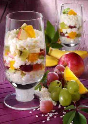 Milchreisdessert mit Obst (für Diabetiker) Foto: Wirths PR
