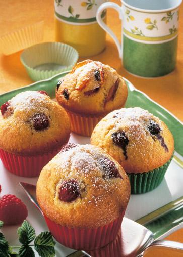 Himbeer-Heidelbeer-Muffins Foto: Wirths PR