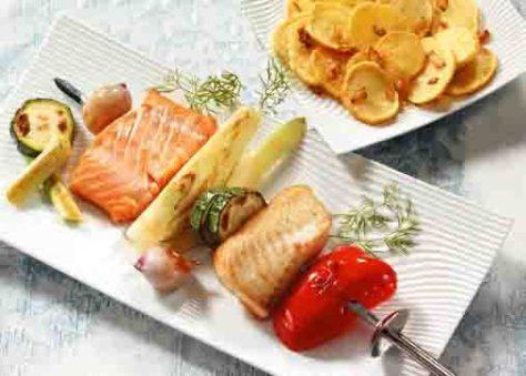 Rezepte: Fischspieße Foto: Wirths PR