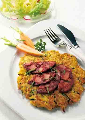 Kartofffelgerichte: Gemüse-Rösti Foto: Wirths PR