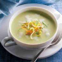 Kartoffelgerichte: Kartoffel-Suppe mit Lauch und Soja