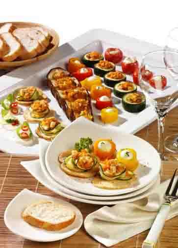 Snacks & Fingerfood: Leichte Sommersnacks mit Brotchips Foto: Wirths PR