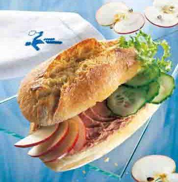 Apfel-Rezepte: Pikantes Sandwich