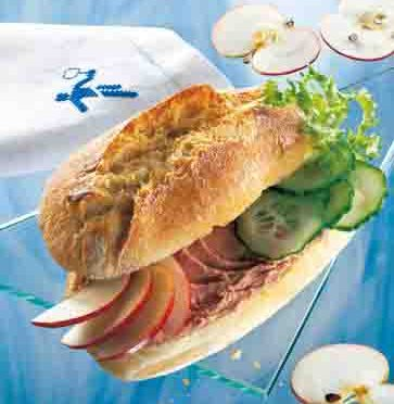 Apfel-Rezepte: Pikantes Sandwich Foto: Wirths PR
