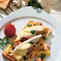 Feinschmecker-Toast mit Pilzen