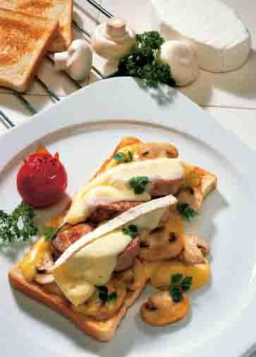 Feinschmecker-Toast mit Pilzen Foto: Wirths PR