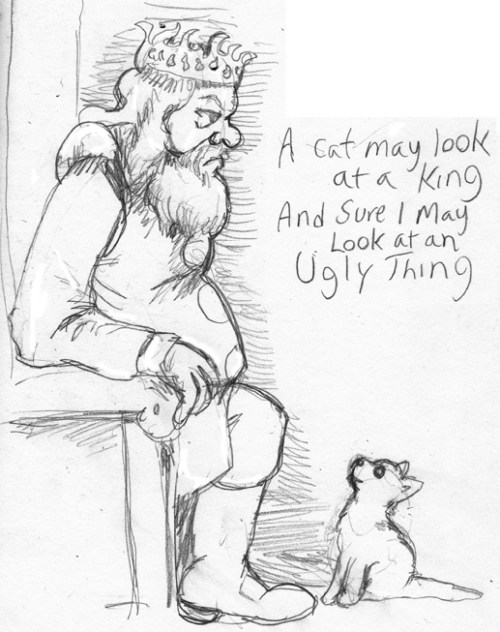 Sketch Challenge Day 60 - A Kitten May Look at a King, starring Robert Baratheon