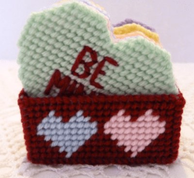 Hand Knitted Conversation Hearts