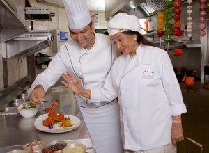 Asha's Corporate Chef Ashwani Rangta and Asha Bhosle