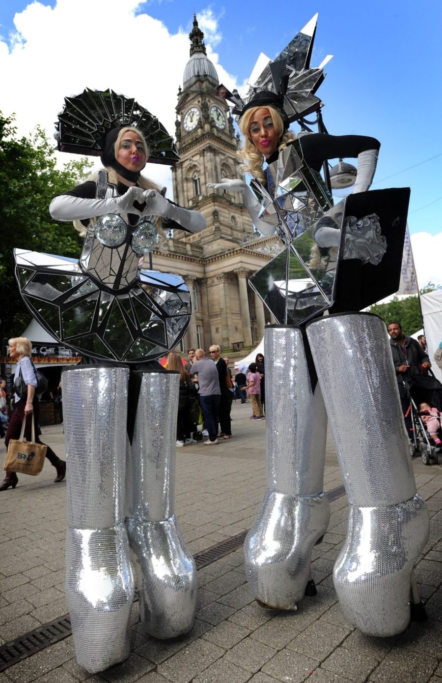 Day two of the annual Bolton Food and Drink Festival. The Gorgeous Girls on Stilts. Picture by Paul Heyes, Saturday August 26, 2017.
