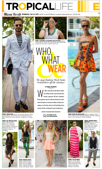 Miami Herald Tropical Life Swim Week Streetstyle