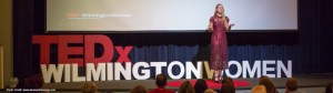 Ria Story TEDx stage