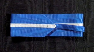 #RO023 Romania, Kingdom, Order of the Romanian Crown, Type 2 (1932 – 1946), ribbon for Commander's Cross, 37 mm