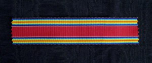 US002 - United States, Ribbon for WW II Commemorative Medal