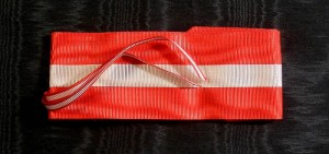 #IT020 - Italy, Order of Italian Crown, ribbon for Commanders cross