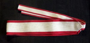 #CR018 – Order of the Crown of King Zvonimir 1st class neck ribbon civil type