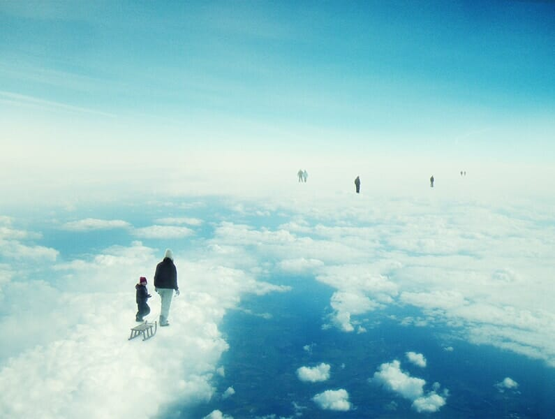 Heaven's already here above the clouds
