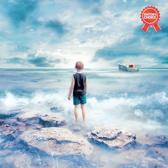 Waiting at the water's edge: Photoshop Creative Editor's Choice
