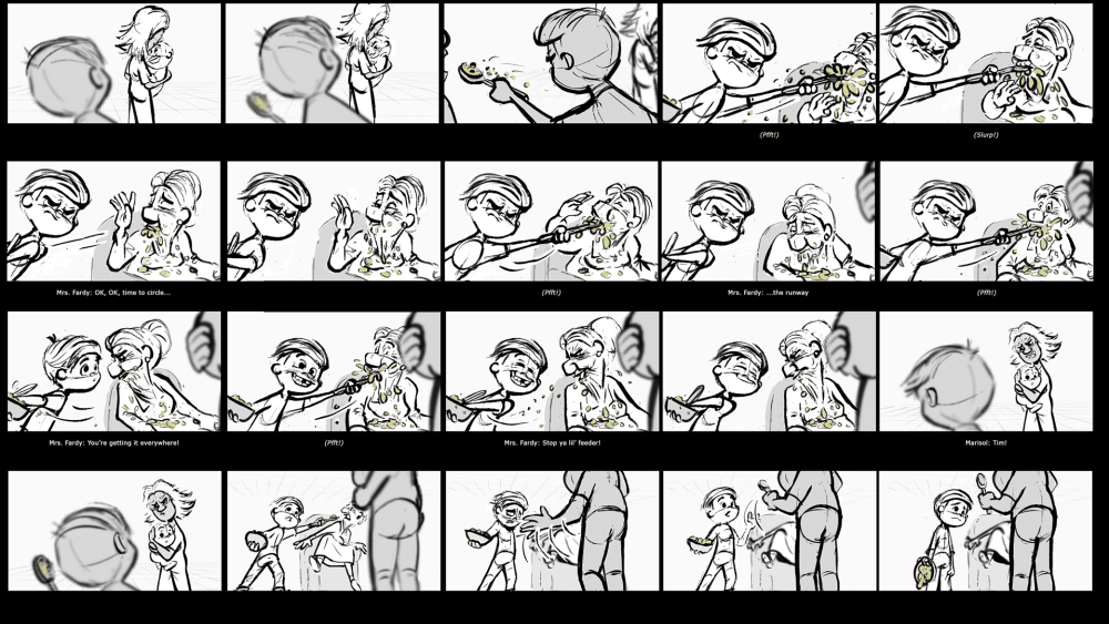 Boss Baby Panels. (c) Richard Tuft. Boss Baby is a (c) of Dreamworks Animation.