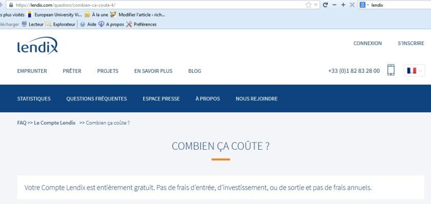 Costos de Lendix inversión crowdfunding crowdlending 03