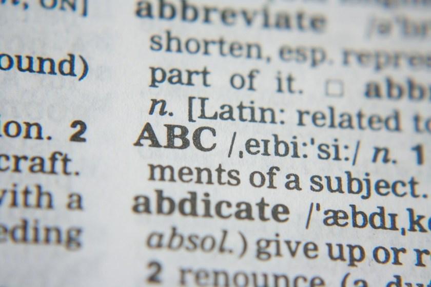 Dictionnaire, définitions