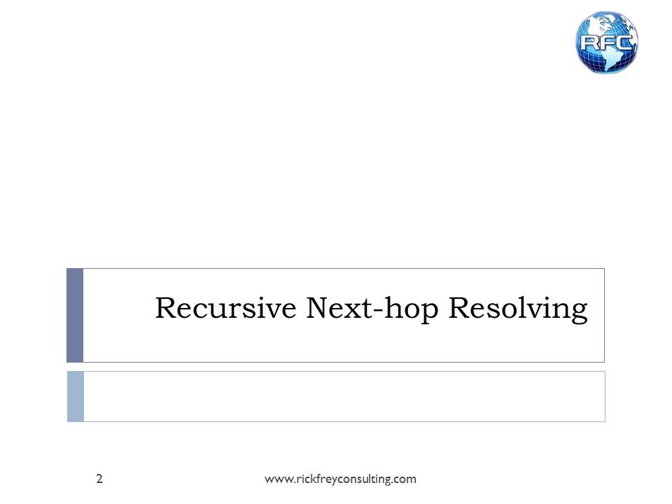 Recursive Next Hop Resolving (2)