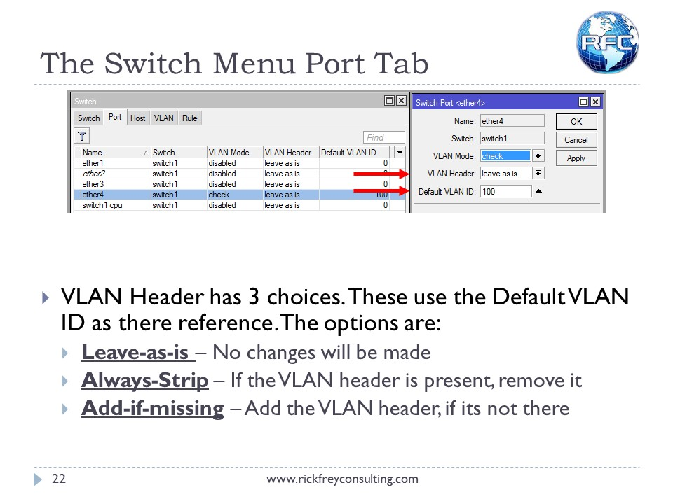Using VLANs on RouterBOARDs (23)