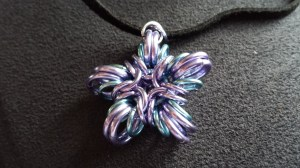 blue and lavender star