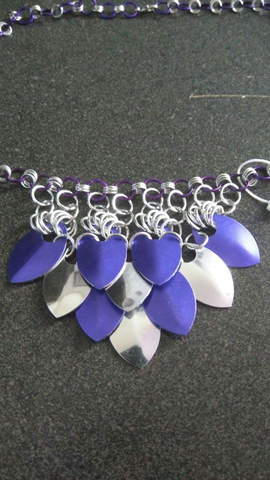 Purple scale necklace