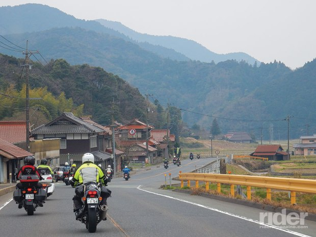 We rode as a group through the Japanese countryside, heeding the typically low speed limits for the most part.