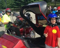 Star Ryan gives the Western Pennyslvania event a thumbs up. (Photo: Ride For Kids)