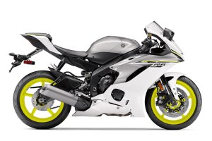 2017 Yamaha YZF-R6 in Intensity White/Matte Silver